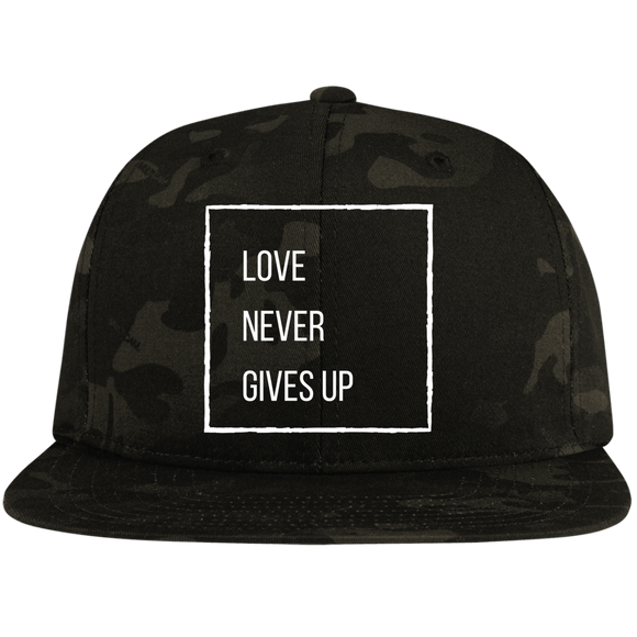 Love Never Gives Up Flat Bill Hat