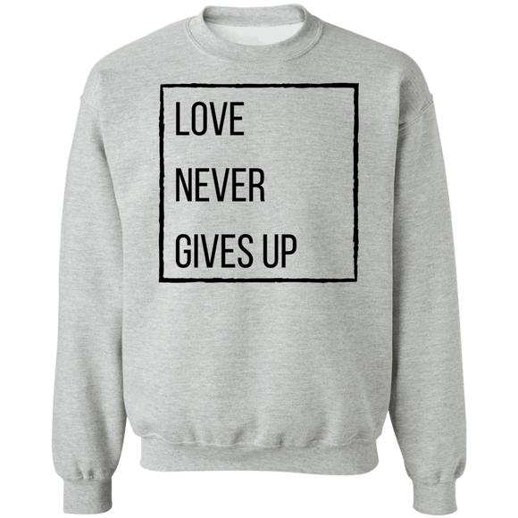 Love Never Gives Up Pullover Sweatshirt