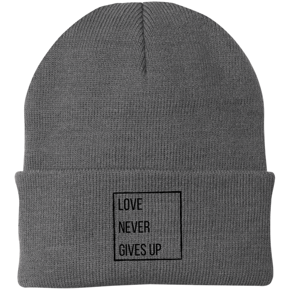 Love Never Gives Up Knit Cap