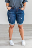 Summer Days Cuffed Denim Shorts