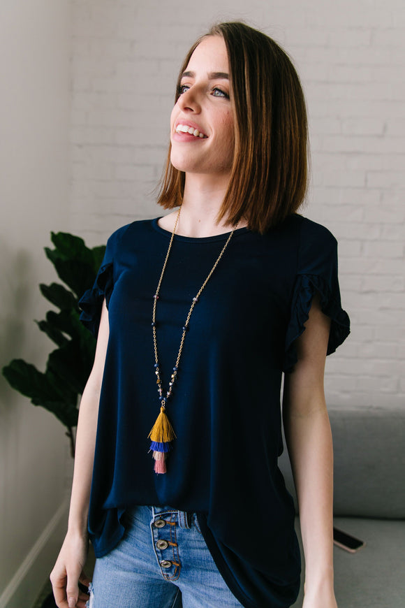 Tiered Tassel Necklace - ALL SALES FINAL
