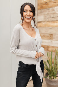 Waffle Love Top in Gray