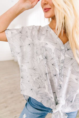 Aloha Button Down Blouse - ALL SALES FINAL