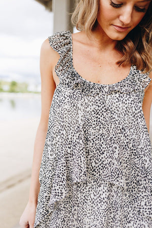 Baby Leopard Spot Ruffled Dress