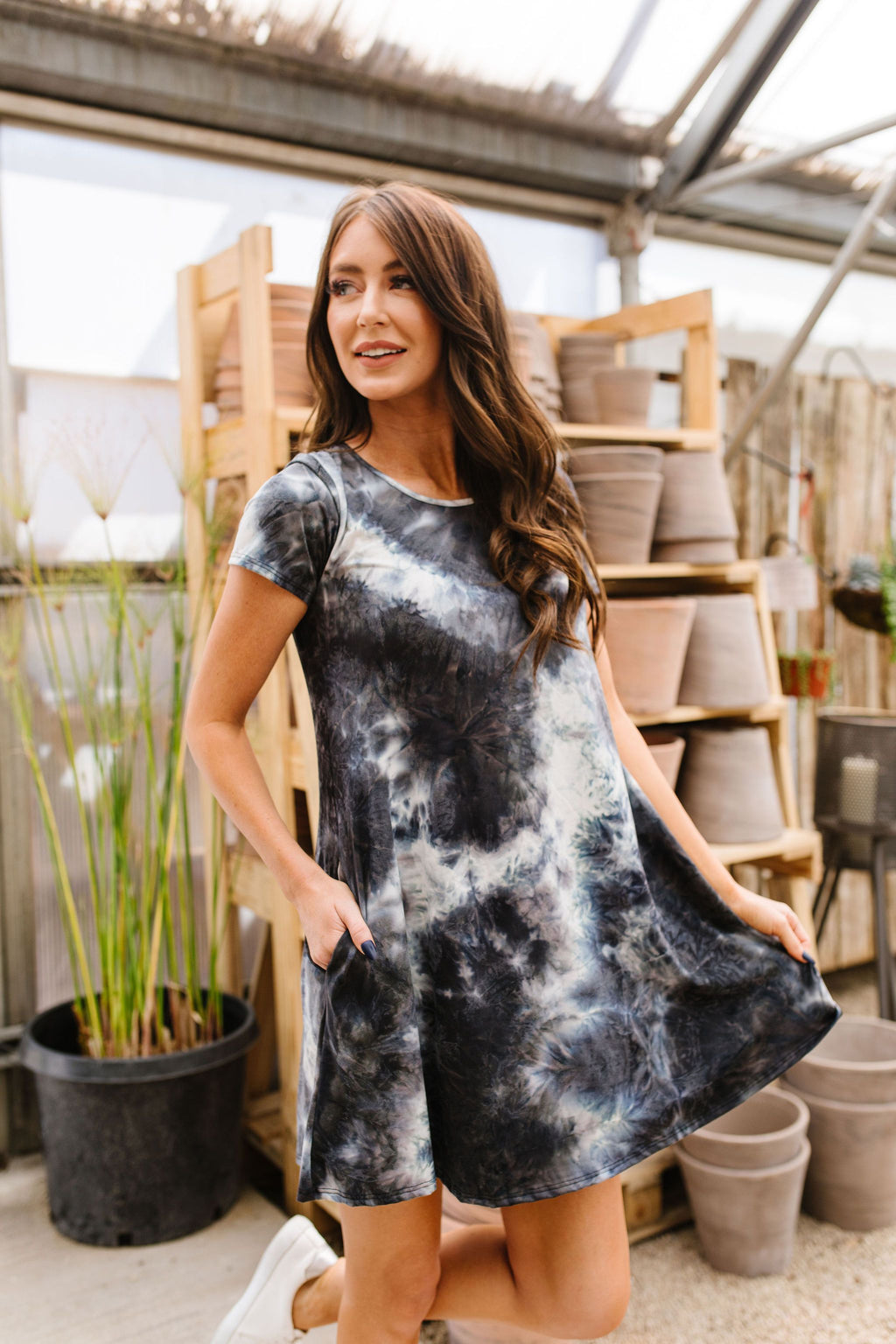 Black Sea Tie Dye T-Shirt Dress