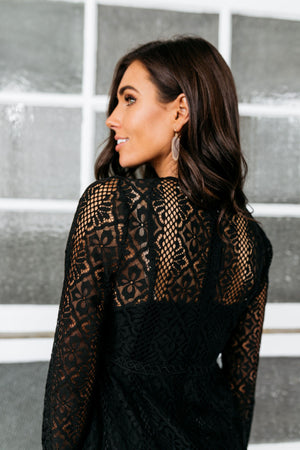 Bring On The Holidays Crochet Lace Dress
