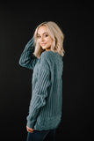 Chenille Sweater in Seafoam