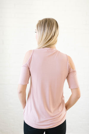 Cold Shoulders in Dusty Pink