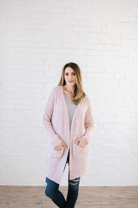 Cuddle Up Cardi in Blush Pink