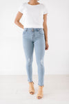 Double Button Light Wash Jeans