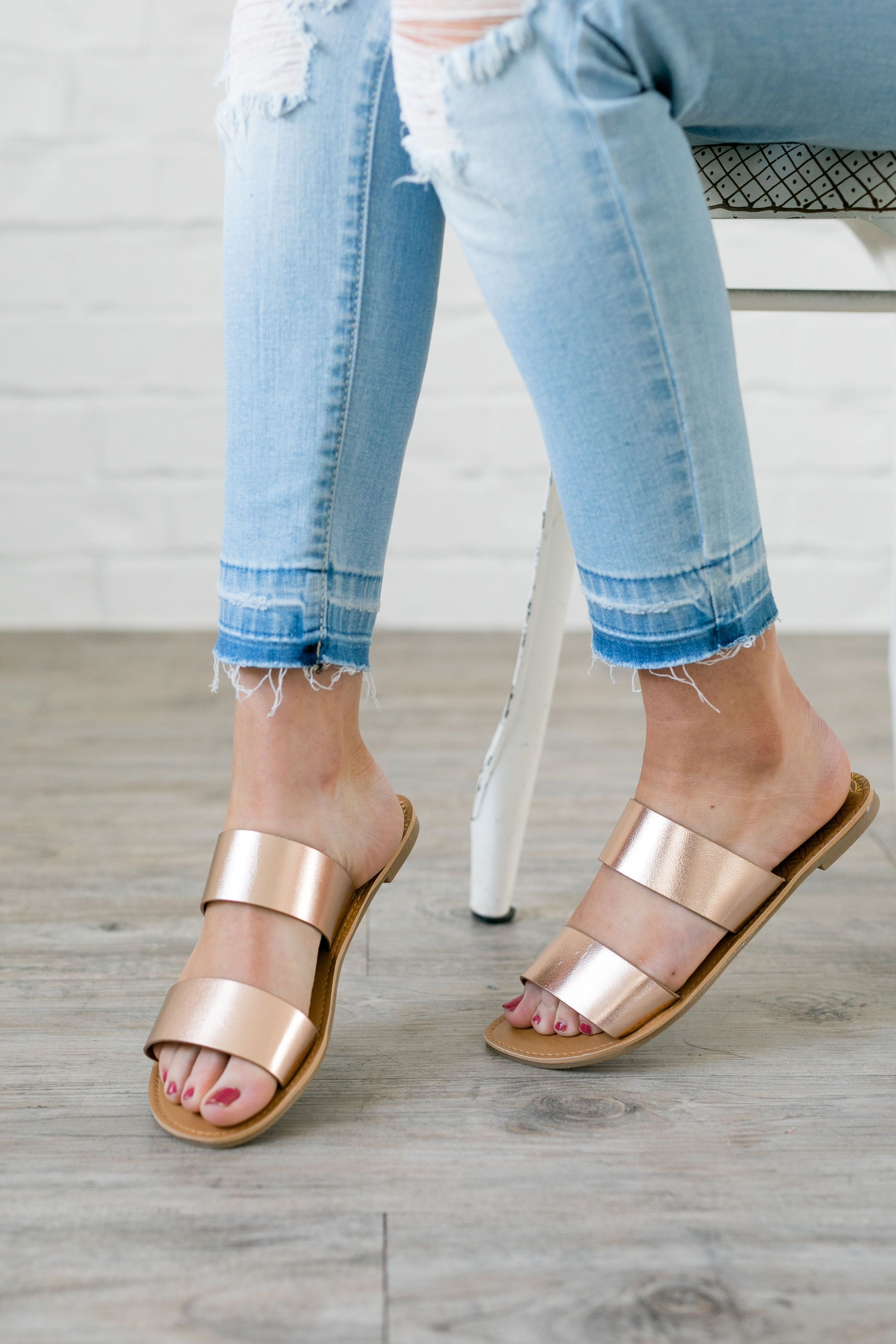 Double Time Rose Gold Sandals