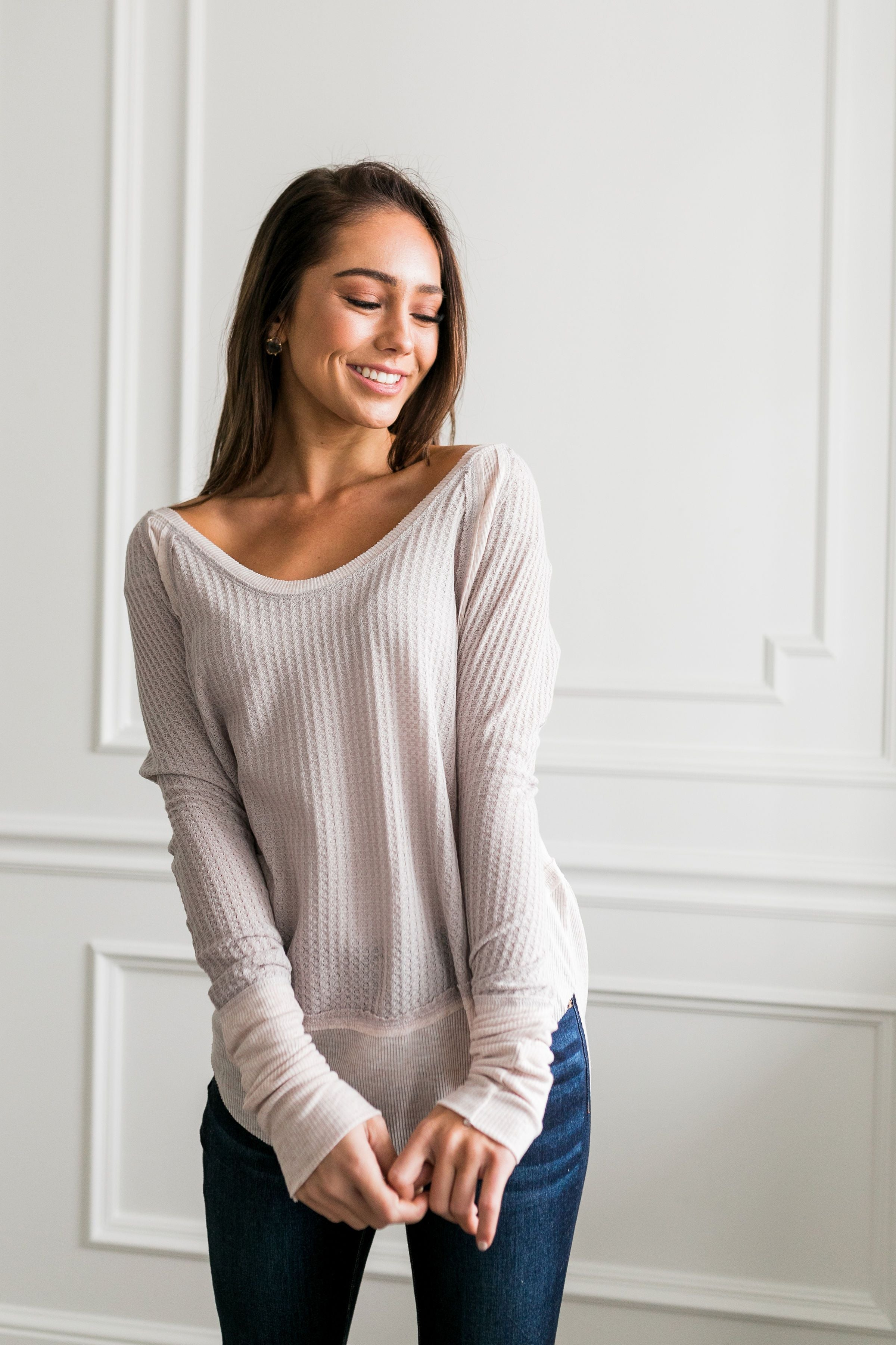 Easy Breezy Beautiful Layered Tee - ALL SALES FINAL