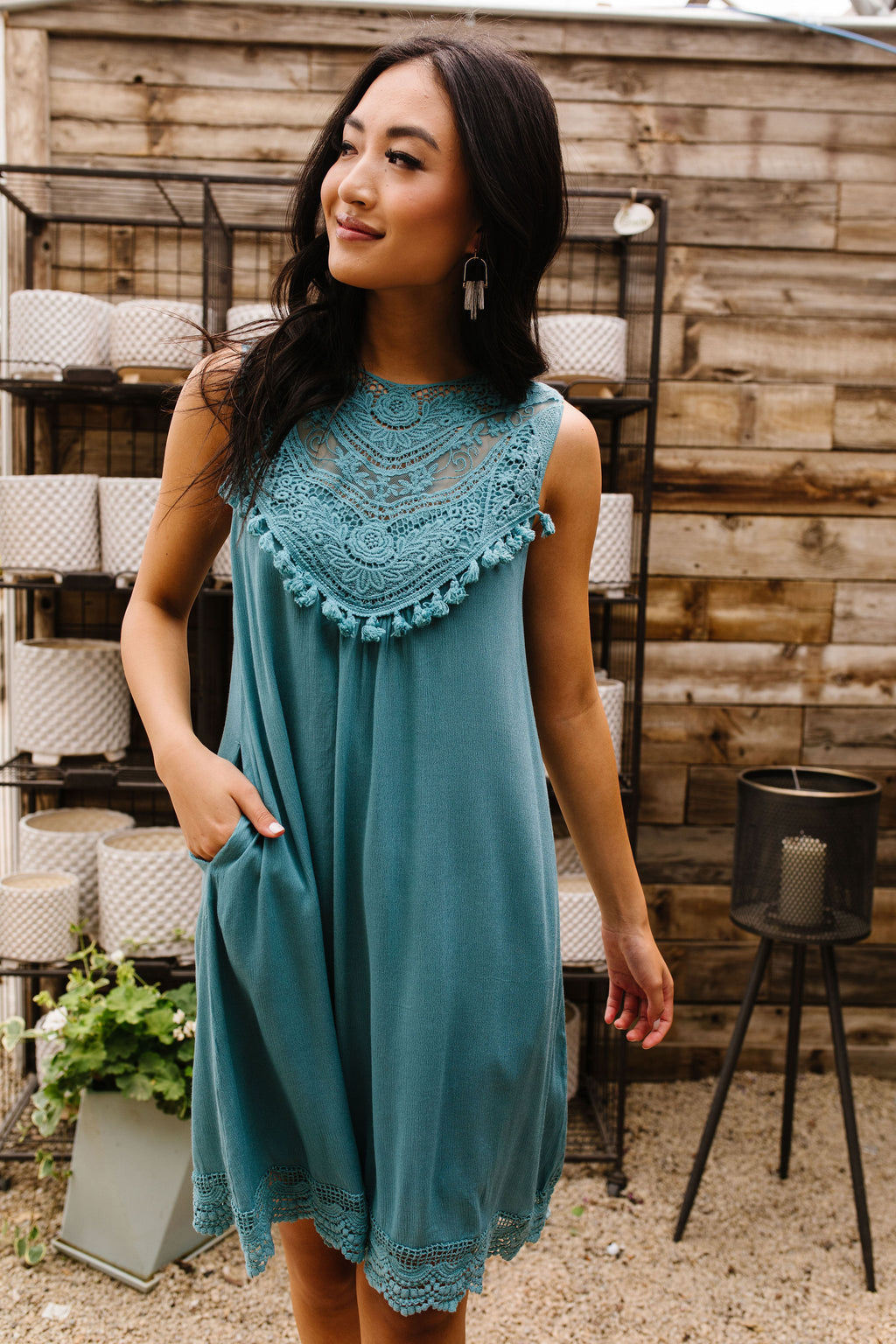 Face Value Lace Trimmed Dress