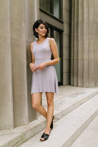 Fun + Flirty Dress In Light Gray