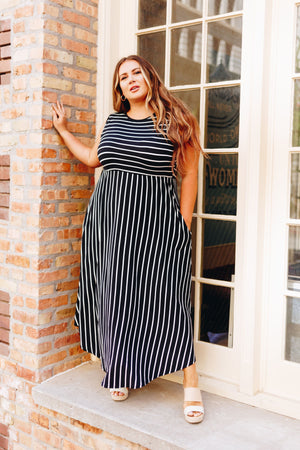 Have It Both Ways Striped Dress