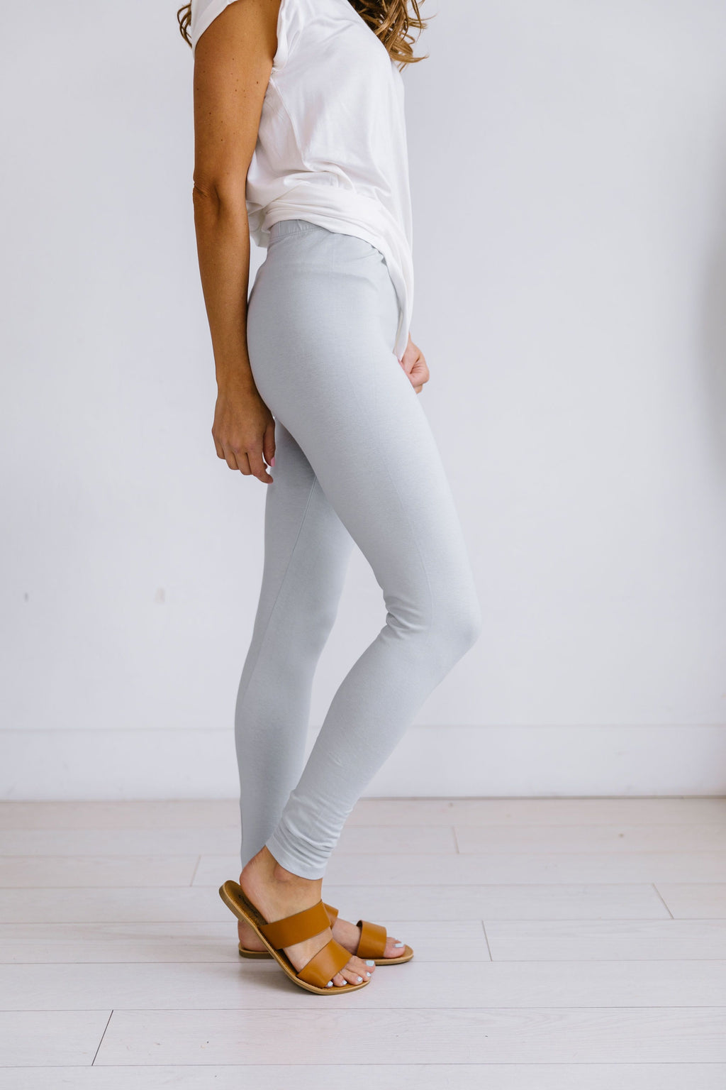 High Waist Leggings In Gray
