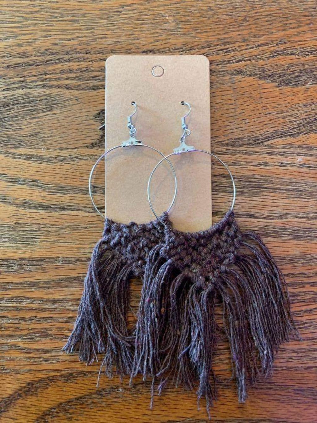 Brown Hoop Macrame