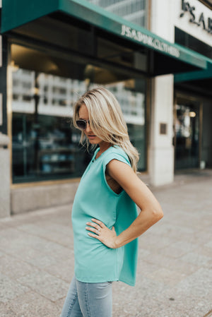 Jenna Blouse In Jade