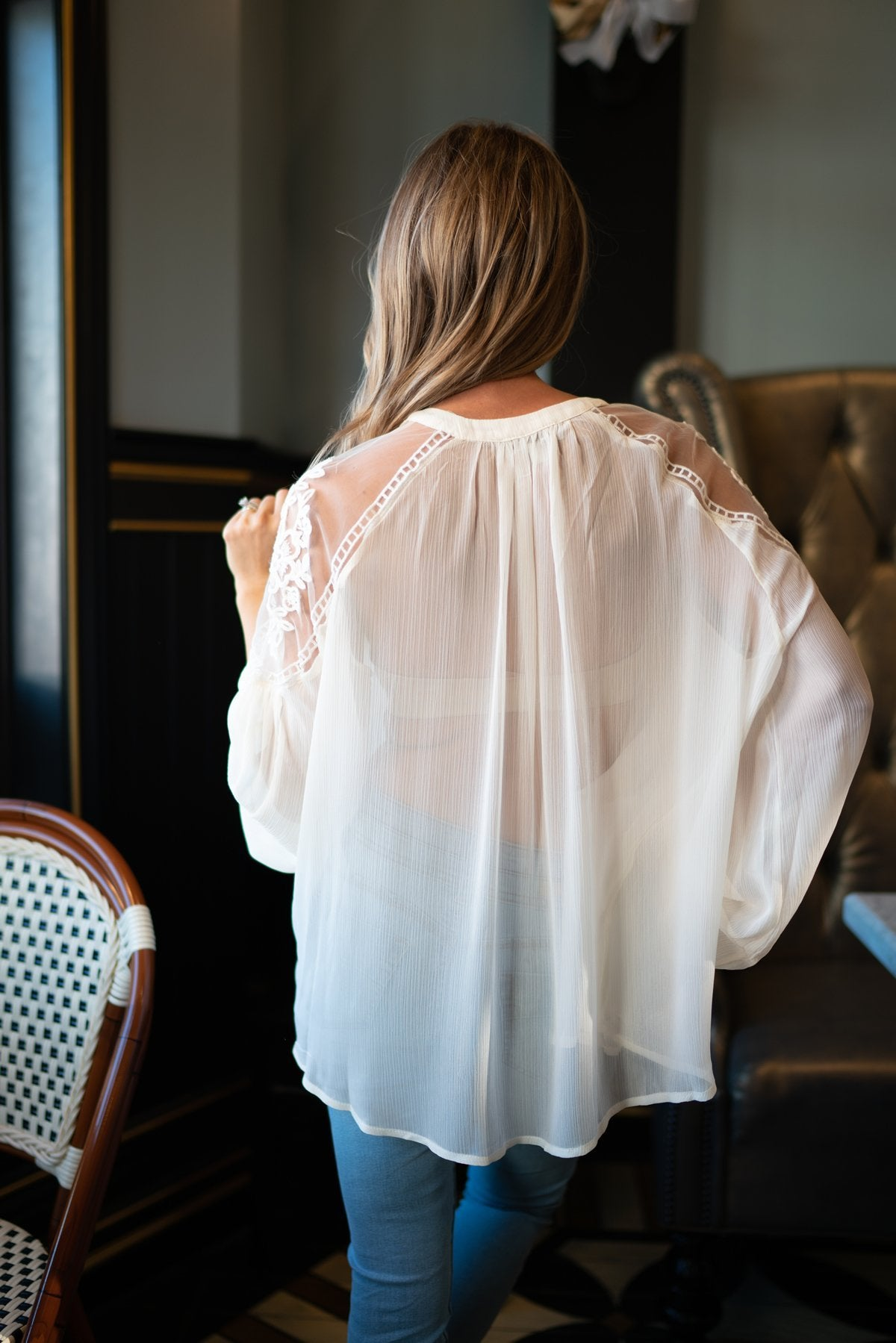 Juliet Lace Top In Cream