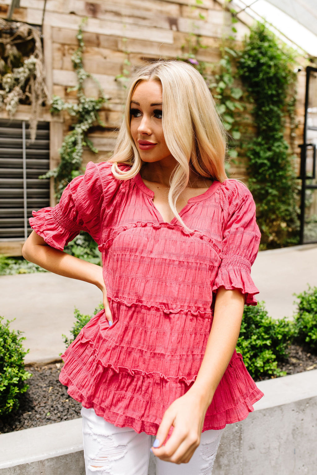 Knock Out Smocked Blouse