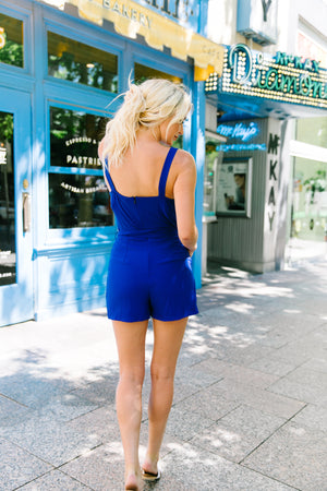 Little Things Romper In Royal Blue