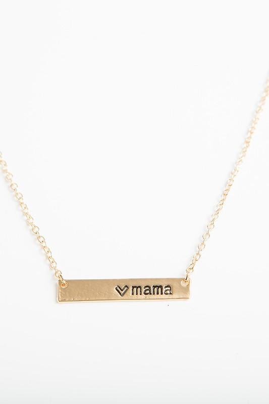 Mama Gold Bar Necklace