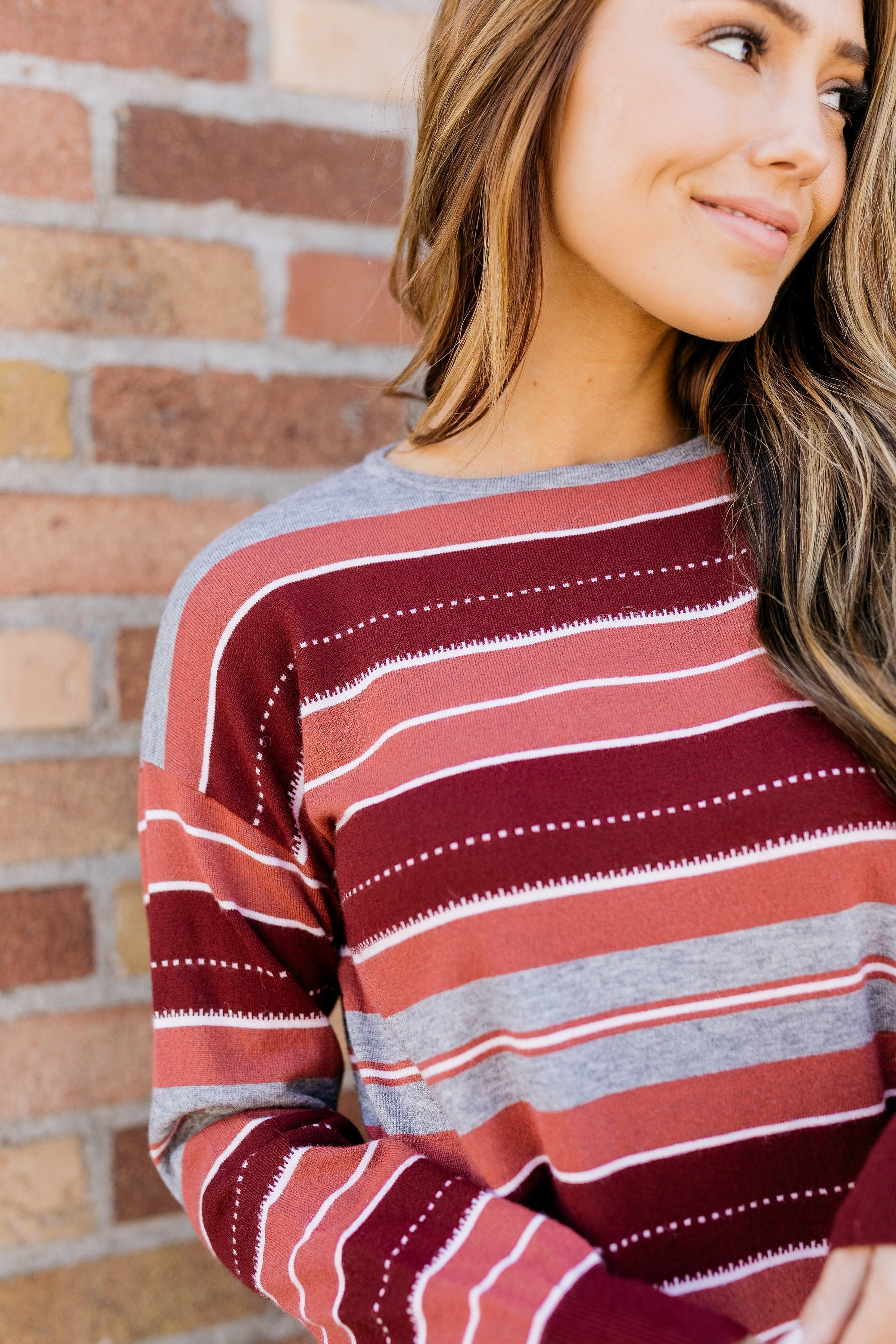 Mauve And More Fine Knit Sweater