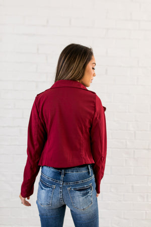 Modern Moto Jacket In Red - ALL SALES FINAL