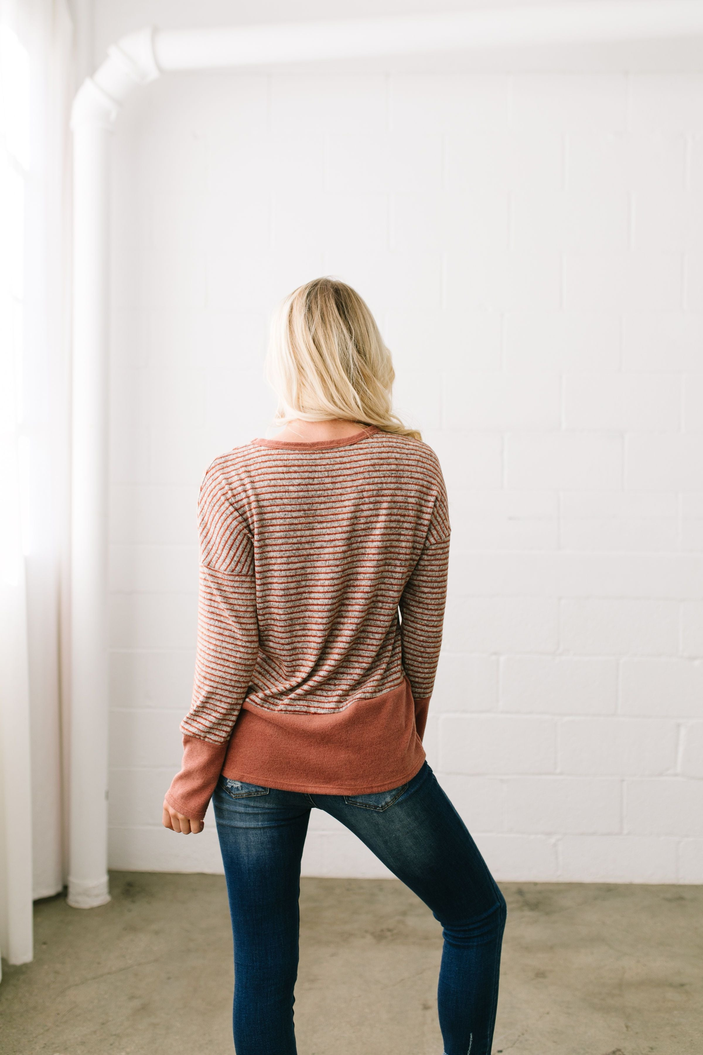 No Rust For The Weary Color Block Top - ALL SALES FINAL
