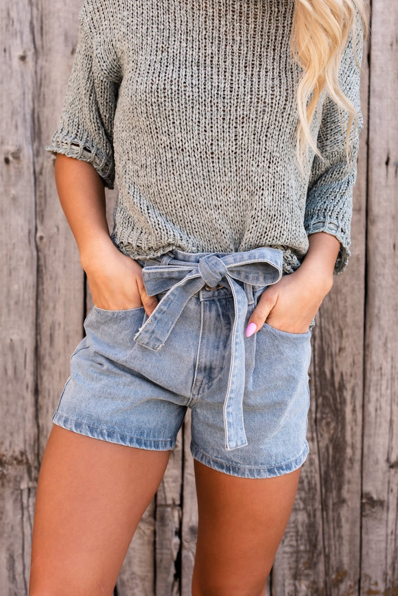 Summer Days Belted Mom Shorts