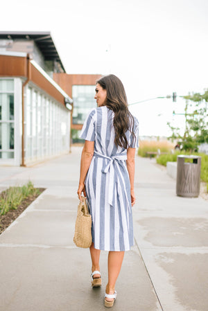 Sailing Away Striped Dress