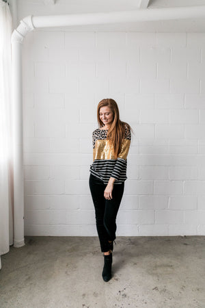 Sequins Spots + Stripes Top