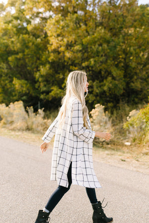 Stay On The Grid Chic Plaid Jacket - ALL SALES FINAL