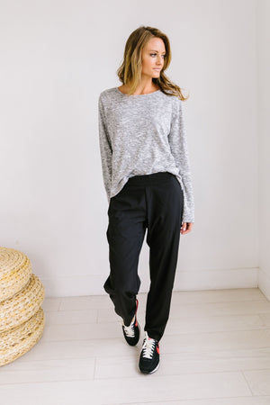 Take It Easy Black Joggers - ALL SALES FINAL