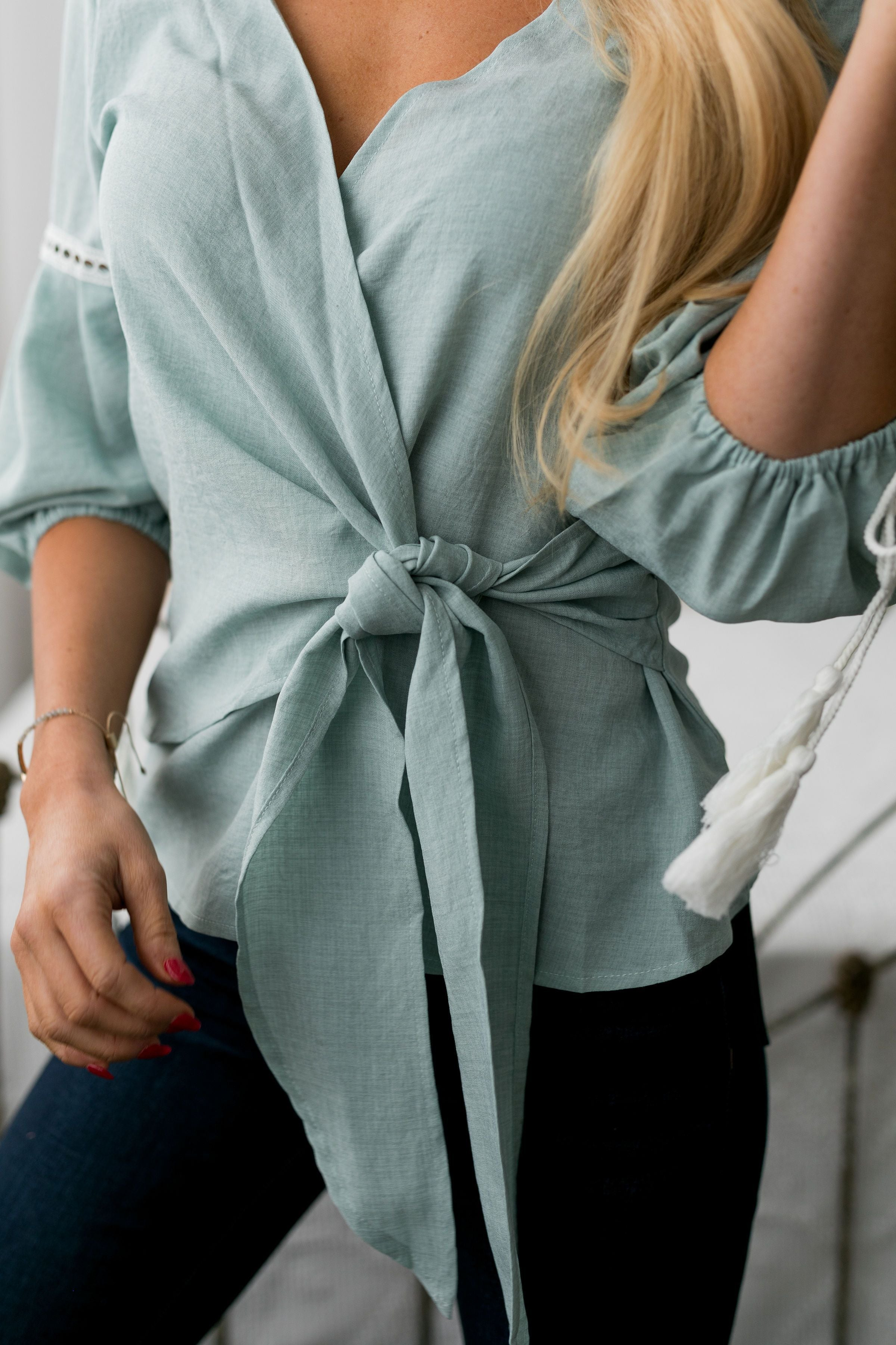 Tied Up With A Bow Blouse - ALL SALES FINAL