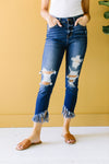Twin Fringe Cropped Jeans
