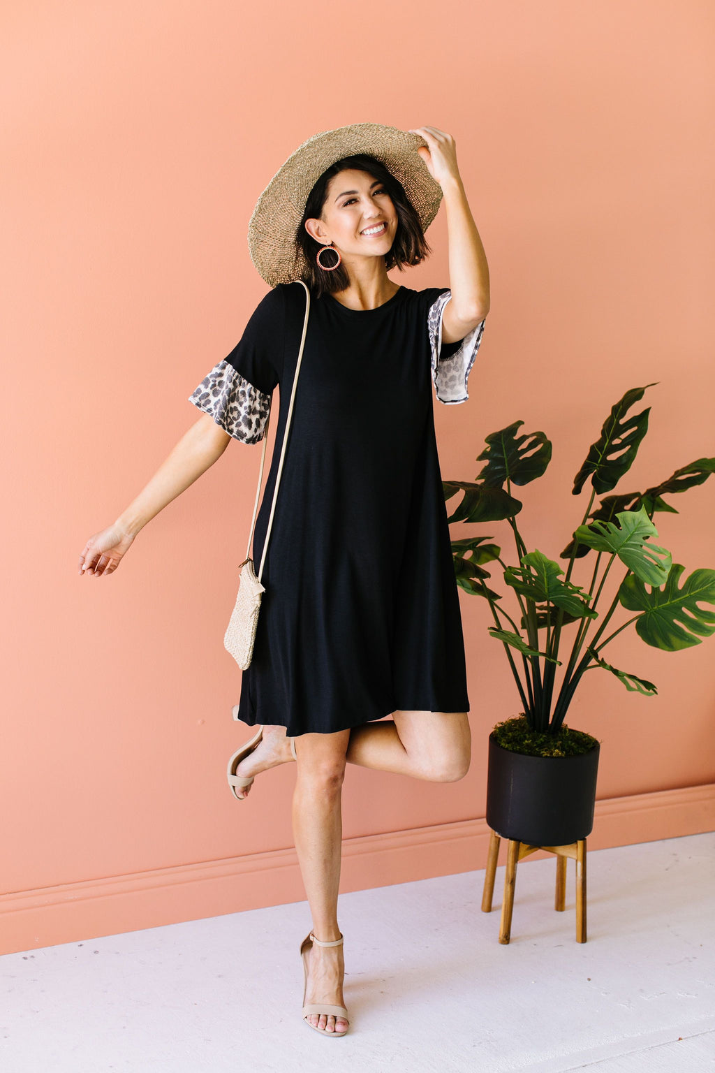 Wild Ruffles Black Dress