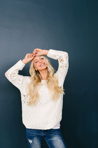 Winter Wonderland Sweater In Winter White