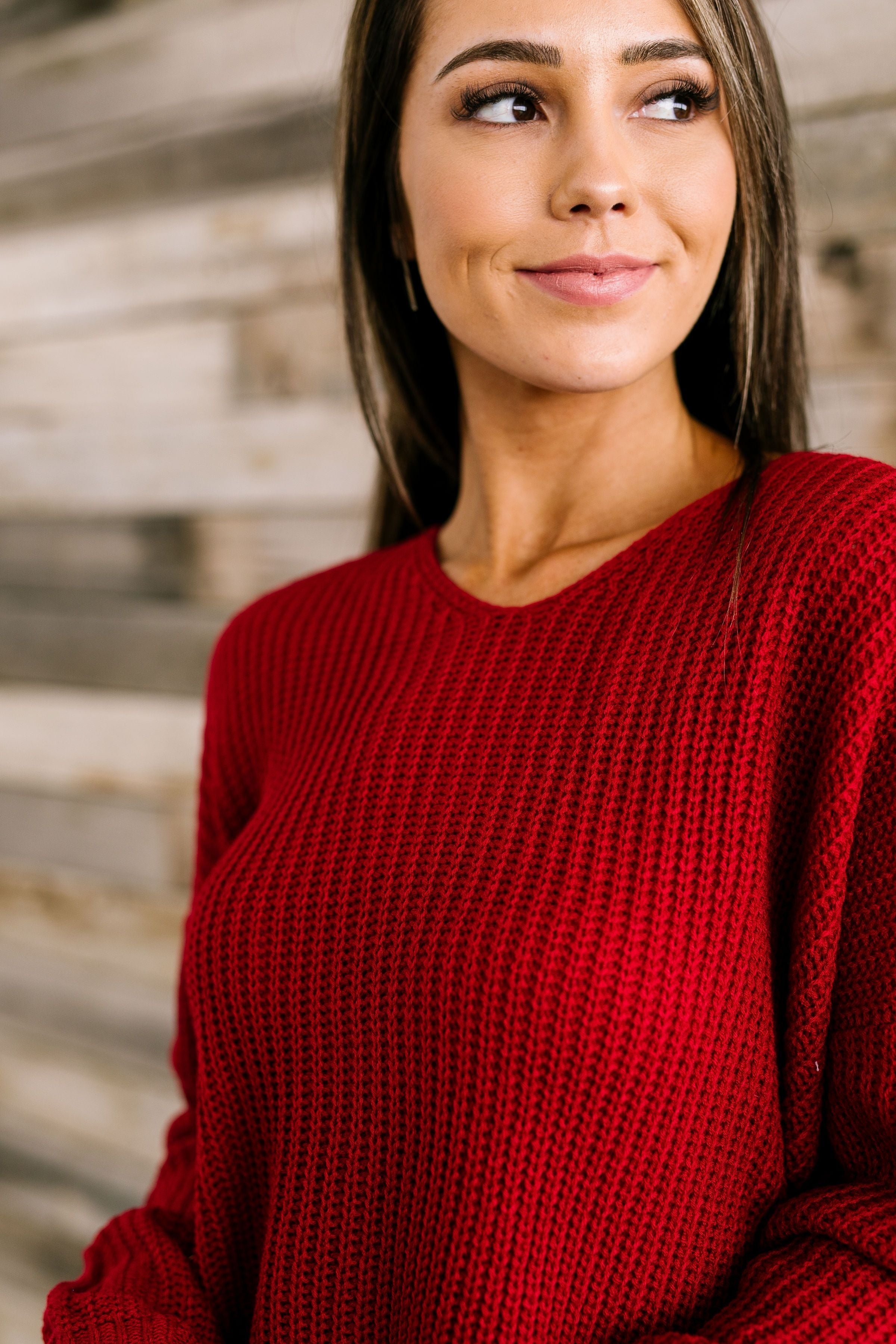 X Marks The Spot Sweater In Cranberry