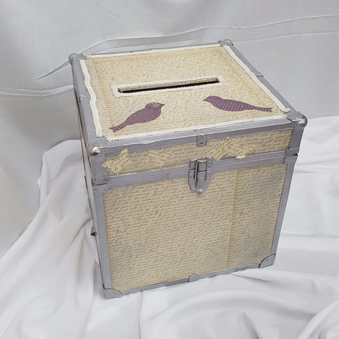 Antique Script Trunk Card Box