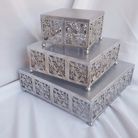 Silver 3 Layer Cake Stand