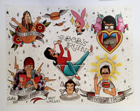 Bob's Burgers Tattoo Flash