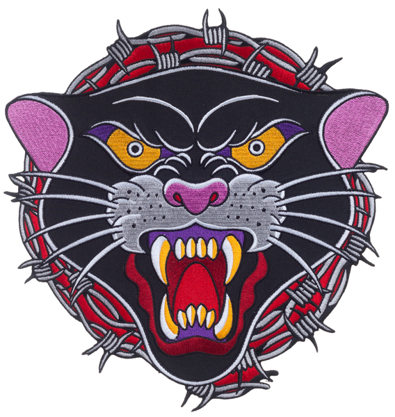 Barbed Panther Embroidered Backpatch