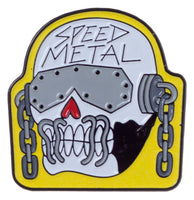 Speed Metal Skull Pin