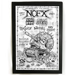 NOFX, Night Birds - SXSW Fat Wreck Chords Showcase Gig Poster