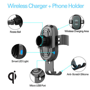 10W Wireless Fast Charger Car Mount Vortex M1