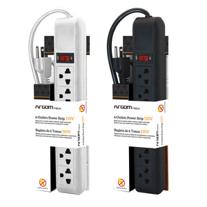 6-Outlets Power Strip 110/120V