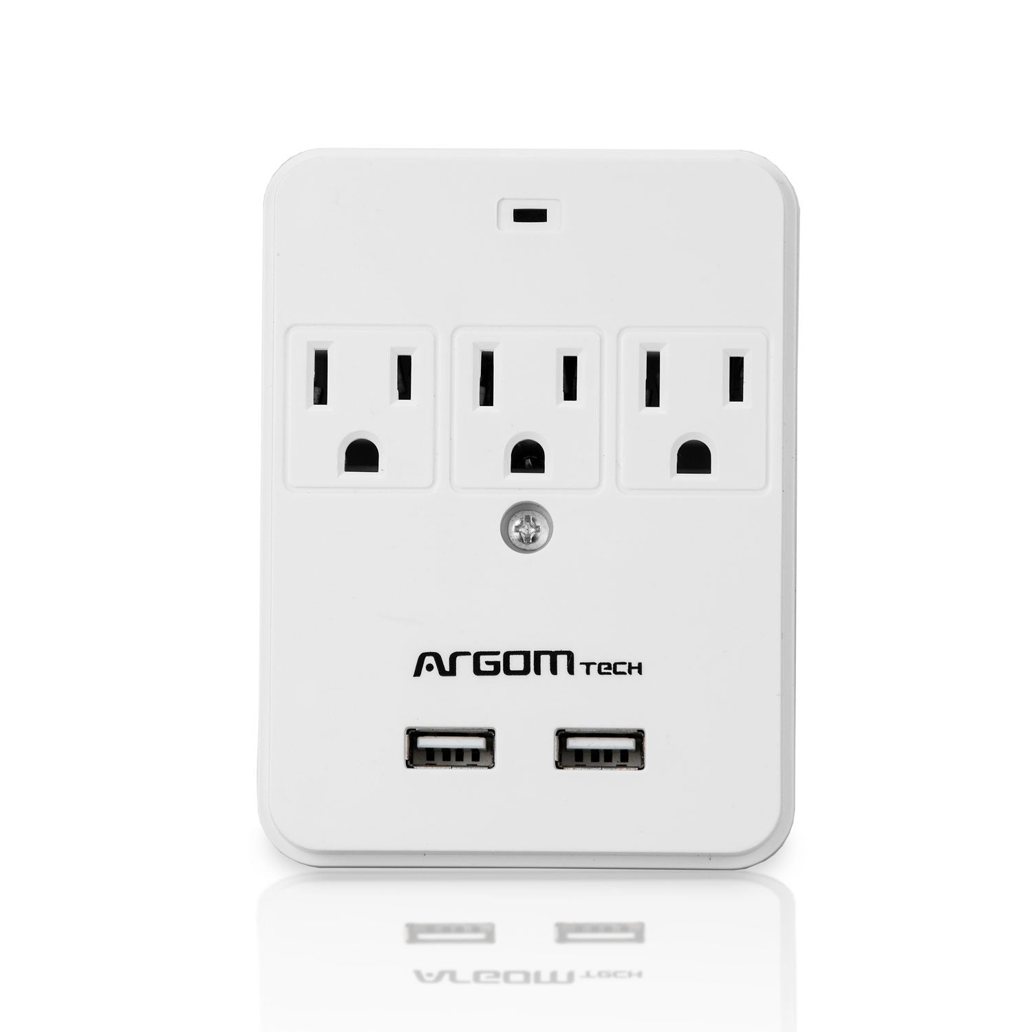 3-Outlet Adapter with 2-USB Ports