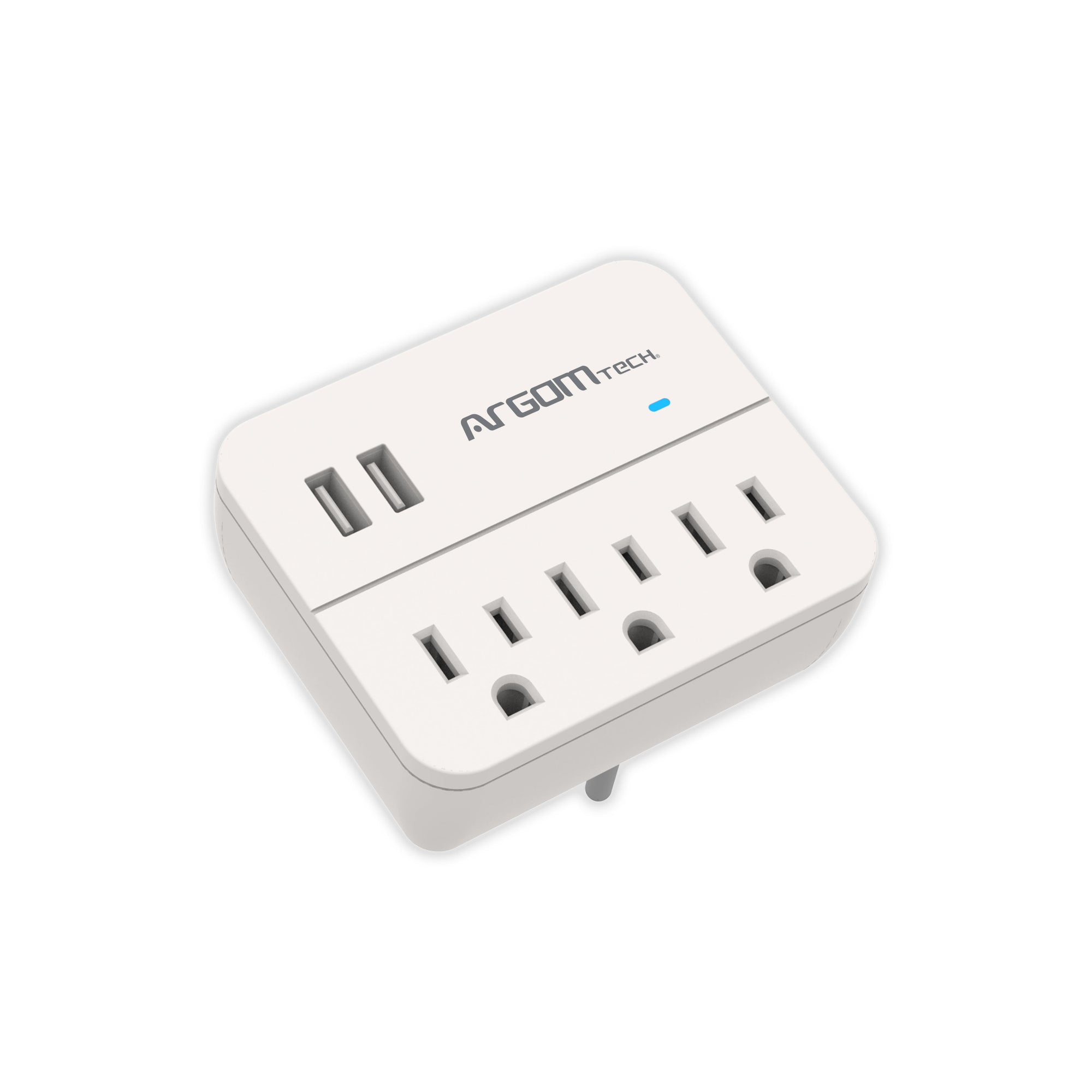Surge Protector Charging Station 3-Outlets/2-USB White