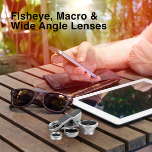 Universal Camera Lens Kit for Mobile Devices 3-in-1